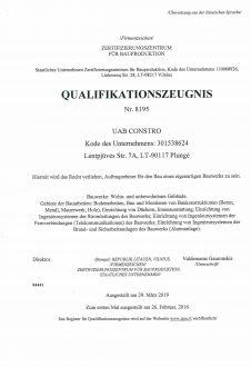 Kvalifikacijos atestatas DE